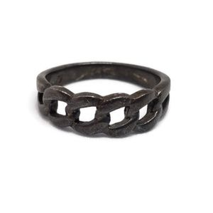 Sterling Silver Oxidized Chain Link Ring